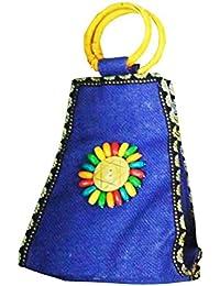Samyawoven Bag Custom Unique Woven Tote Shoulder Bag Handbag Gift For Women Girls - Dark Blue