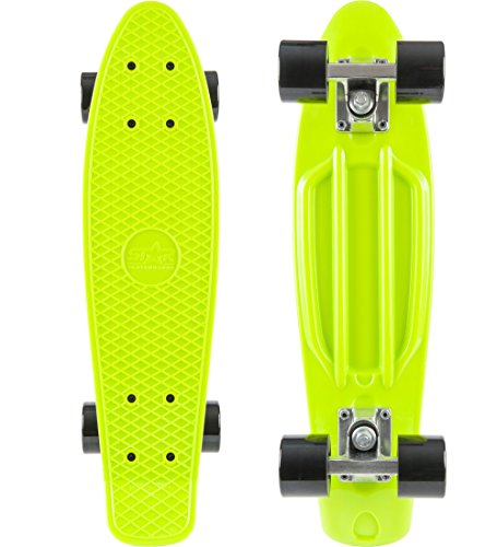 STAR-SKATEBOARDS® Vintage Cruiser Board ★ 22er Diamond Class Edition ★ Gecko Grün & Teuflisch Schwarz