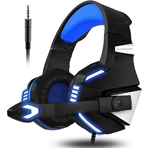 VersionTECH. Auriculares Gaming Cascos PS4 con Micrófono Plegable, Sonido Envolvente, Luz LED,...