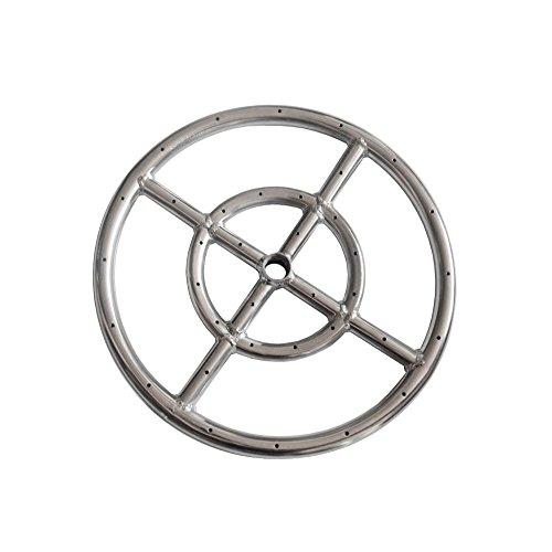 3-ring Mit Einem Brenner (Earth Star 30,5cm 304Edelstahl Propan Fire Pit Ring Brenner)