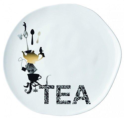 Roues teatime assiette à dessert en porcelaine
