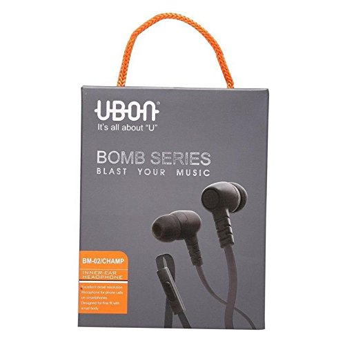 UBON Dolby Sound Bomb Series Audio Bass In-ear Earphone/Headphone with Mic With Heart Shape Keychain
