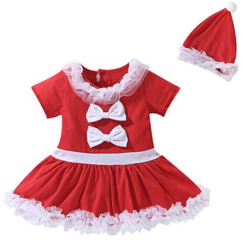 Dress Kostüm Fancy Neugeborenen - Le SSara Weihnachts-Baby-Cosplay-Baumwollkleid Neugeborenen Kostüm-Outfit mit Hut 2pcs (110, 31808)
