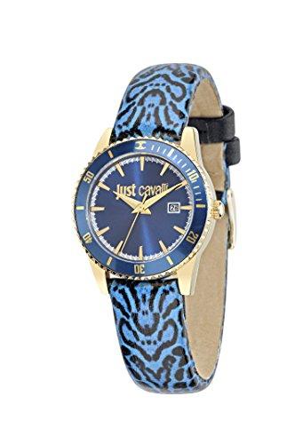Reloj de cuarzo Just In Time de Just Cavalli, para mujer, con esfera analógica y correa de piel