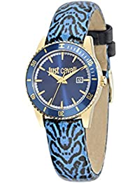 Just Cavalli Damen-Armbanduhr JUST IN TIME Analog Quarz Leder R7251202502