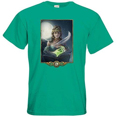 getshirts - Das Schwarze Auge - T-Shirt - Götter - Hesinde Pacific Green