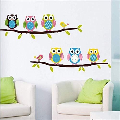 KreativeWandaufkleber PvcCartoon Kinderzimmer Schlafzimmer Hintergrund DekorativeWandaufkleberGemalt Süße Eule13.77X21.25Inch -