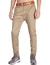 dad21040b934 Italy Morn Uomo Chino Casual Pantaloni Cotone Slim Fit 25 Colori