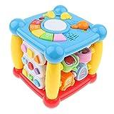 Homyl Gioco Cubo Musicale Sviluppo Cognizioni di Forme Colore Bambini Regalo Plastica