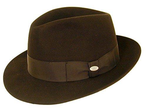 Mayser City Fedora Chapeau de Feutre - Gris - 57