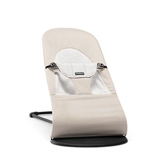 BabyBjörn 005083 Babywippe Balance Soft, Cotton / Jersey, beige / grau