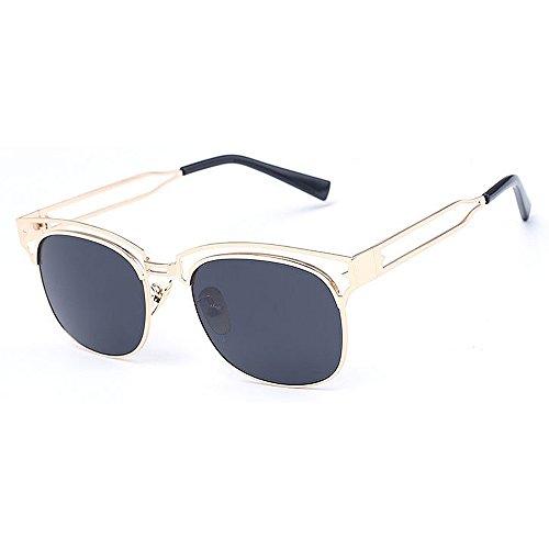 7136fed524 Lentes planos espejados Marco de metal unisex lente coloreada Gafas de sol  de protección UV para hombres Mujeres conducción al aire libre Travelling  Beach ...