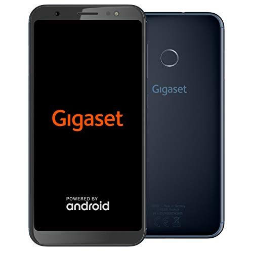 Gigaset GS185 Smartphone ohne Vertrag (13,97 cm (5,5 Zoll) HD+ Display, 16GB Speicher, Android 8.1) midnight blue -