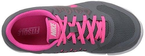 Nike Wmns Flex 2015 Rn - Sneaker pour femme Gris / Rose / Blanc