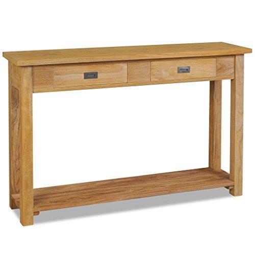 vidaXL Massivholz Teak Konsolentisch 120×30×80 cm Beistelltisch Sideboard Tisch