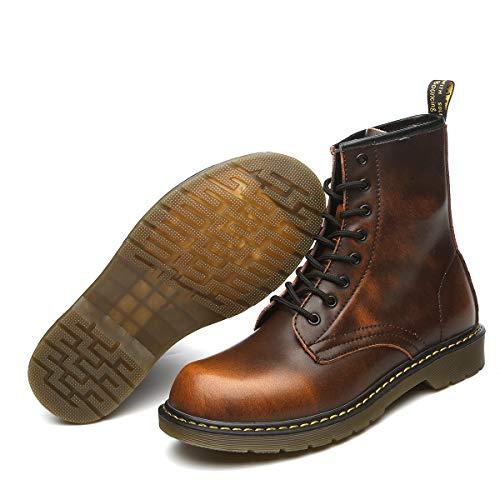 Orktree Unisex-Erwachsene Chelsea Boots Damen Stiefel Wasserdicht Kurz Stiefeletten Schuhe Herren Combat Worker Boots,Braun,38 EU -