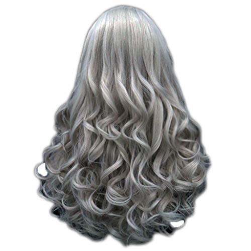 BfmyxgsDamenmode Natürliches Volumen Flauschig Lang Ohne Pony Ion Hot Fashion Haar Modisch Und Teilweise Verbreitung (Extensions Light Purple Hair)