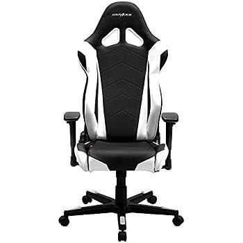DXRacer Racing RF0 Gaming Stuhl, Kunstleder - schwarz/weiß