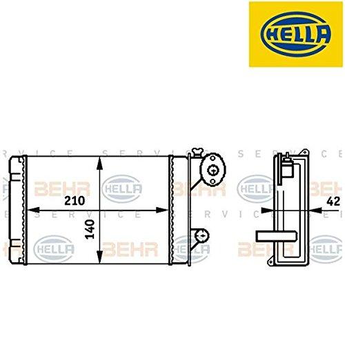 Hella 8FH 351 313-341 Scambiatore Calore