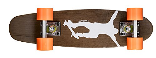Ridge Erwachsene Maple Holz Mini Cruiser Number One Skateboard Orange