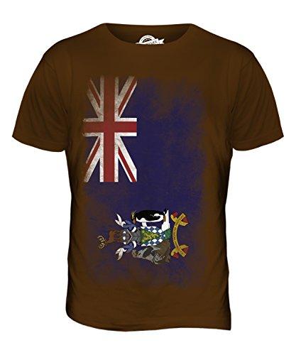 CandyMix Südgeorgien Und Die Südlichen Sandwichinseln Verblichen Flagge Herren T Shirt Braun