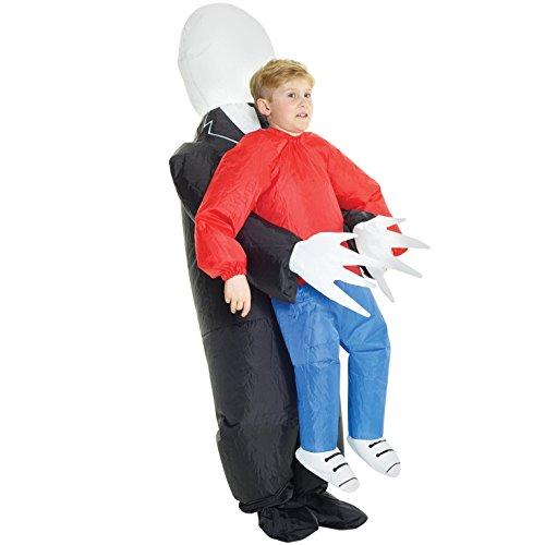 Morph KMCPISM Aufblasbares Kostüm, Unisex, Slenderman, Einheitsgröße Kinder (Halloween Slenderman Kostüme)