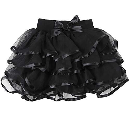 storeofbaby Kleine Mädchen Klassische Tüll Tutu Rock für Kleinkind Kinder Weihnachten Urlaub - Kleine Mädchen Tutu Schwarz Kostüm