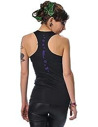 gothique vetement Shirt dos nageur élément de la journée noir de 3 Elfen - femme
