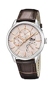 Lotus Watches Reloj Multiesfera para Hombre de Cuarzo con Correa en Cuero 15974/7