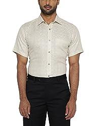 Raymond Mens Formal Shirt (8907576013545_RMSY06214-F2_40_Light Fawn)