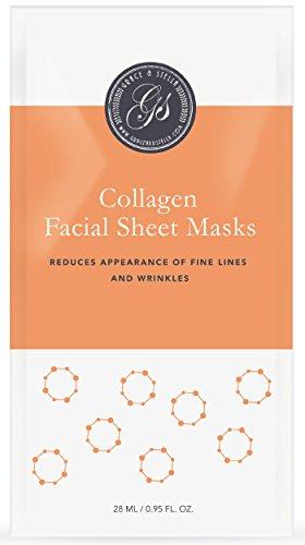 BESTE Collagen Gesichtsmasken (6Er Set) | Tuchmasken | Anti-Aging & Falten-Behandlung | Beste Alternative Zu Koreanischen Masken | Kollagen-Blatt-Maske | Für Geschmeidigkeit und Elastizität