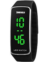 Skmei Reloj para mujeres, para deportes, resistente al agua (pantalla digital LED, de cuarzo)