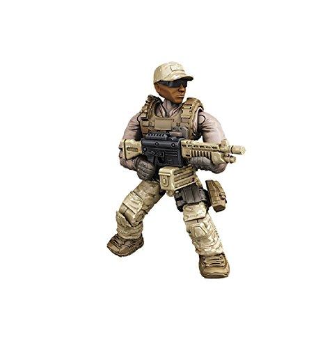 Preisvergleich Produktbild Mattel Mega Bloks - Call of Duty Figur Desert Solider mit schwerem Maschinengewehr Minfigur