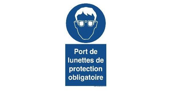 Panneau Obligation PORT DE LUNETTE  Amazon.fr  Fournitures de bureau e2aa2e3db9d6