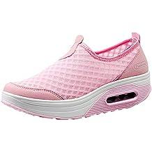 Zapatillas de Mujer de BaZhaHei, Malla Tejida Tejida Calzado Deportivo Casual Zapatos de Suela Gruesa