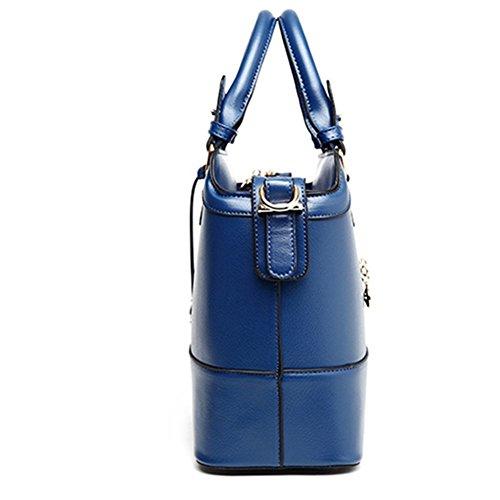 fanhappygo Fashion Retro Leder Damen elegant Trend Handtaschen Umschlag Schulterbeutel Umhängetaschen blau