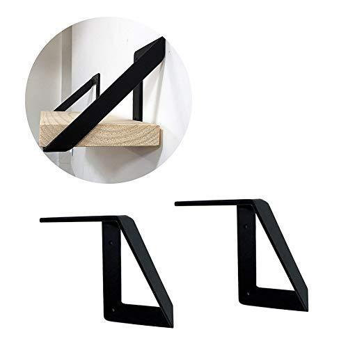 Soporte de estante, Soporte Triangular Negro para Pared, Soporte De áNgulo Recto...