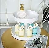 Ablageschalen 2 Schichten Cupcake Ständer Metall Weiß Hochzeitstorte Werkzeuge Parfüm Bilden Display Party Event Dekoration - 3