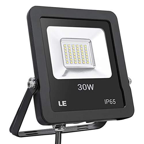 LE LED Strahler, 30W 2400lm superhell Flutlicht, IP65 wasserdicht LED Fluter, 5000K Kaltweiß Außenstrahler, geeignet für Garten, Garage, Hotel, Hof usw.