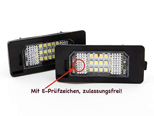 Preisvergleich Produktbild 2 x TOP Module 18 SMD LED Kennzeichenbeleuchtung Nummernschildbeleuchtung (135X)