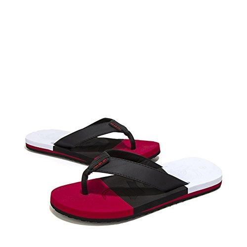 Tongs de l'été pour hommes/Couleur correspondant à la plage-chaussures de loisirs/Sandales plates avec des semelles épaisses B