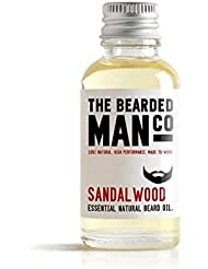 Sandalwood The Bearded Man Co Beard Oil Conditioner Mustache Male Grooming 30ml Bigger Size by The Bearded Man Company