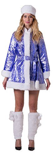 (Snegurochka-Kostüm, Schneewittchens - Blau Snegurka - Russisches Schneewittchens - Ursprüngliches Schneemädchen - Toll für jeden Anlass: Halloween-Party, Weihnachtsfeier oder Bühnenstück)