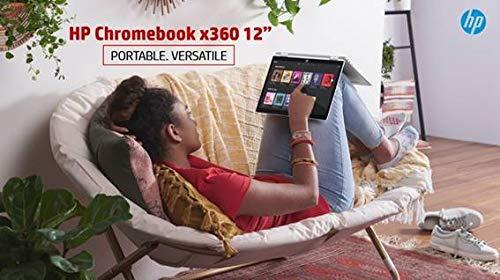HP Chromebook 12b-ca006TU x360 Thin and Light Touchscreen 12-inch Laptop (4GB/64GB eMMC SSD + 100GB Cloud Storage/Chrome OS/Intel UHD Graphics), Natural Silver Image 9