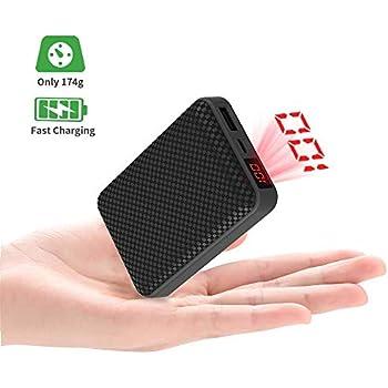 Mini Batterie Externe 10000mAh Power Bank Ultra-Compacte Portable Chargeur avec Nouveau 2.1A