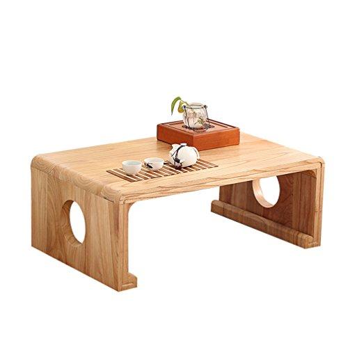 Kinder-computer-schreibtisch (QFF Massivholz Kleiner Tisch, kreativ Japanisch-Stil Teetisch Faule Person Tischdekoration Niedriger Tisch Bett Musiktisch Computer Schreibtisch Kind Study Tabelle Verhandlungstisch)