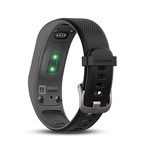 Garmin Vivosport–Pulsera de deporte con GPS y monitor de ritmo cardiaco, Gris, S/M