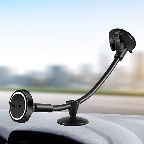 ipow Universal LKW Auto KFZ Magnet Handyhalterung 360 Grad auto Armaturenbrett Windschutzscheibe Halterung, Stark Neodym magnetisch Handyhalter kompatibel mit allen Smartphones
