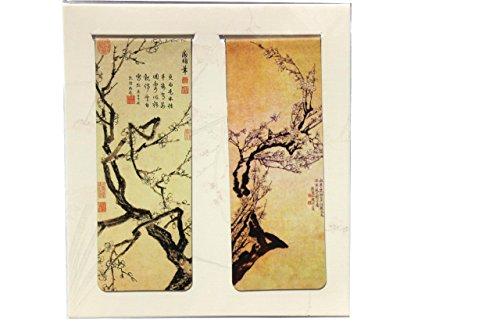 bm25-chinese Souvenir Magnetische Lesezeichen in Oriental Vintage Style Malerei Set of 2pcs-cherry Blossom (Malerei Cherry Blossom)