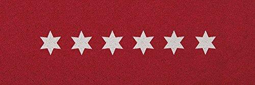 Küchenläufer / Küchenmatte / Dekoläufer für Küche und Bar / Teppich Läüfer / Küchenläufer / Küchendeko Modell Sterne - Stars - rot
